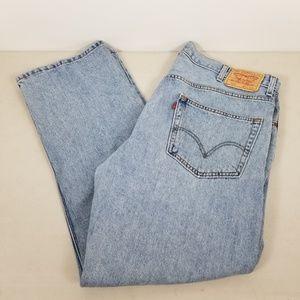 Levis Mens 505 Regular Fit  Jeans 42x30